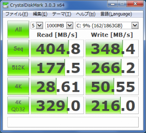 CrystalDiskMark_SRT_ST2000DM001_SDSSDHP-256G-G25AZ